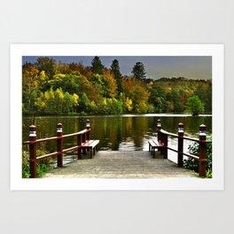 Villa Gallina, Autumn Colors, Denamrk Art Print