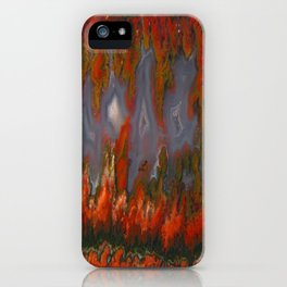 Christmas Tree Plume Agate iPhone Case