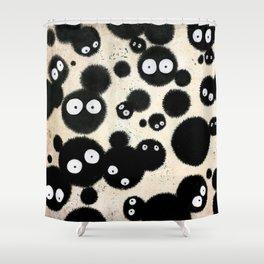 Cute Susuwatari Infestation Shower Curtain