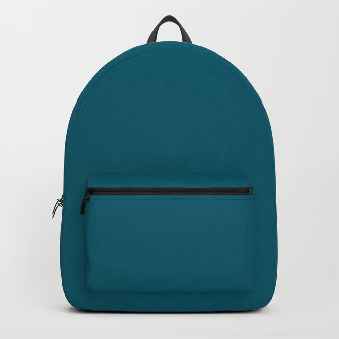 Sherwin Williams Trending Colors of 2019 Oceanside (Dark Aqua Blue) SW 6496 Solid Color Backpack