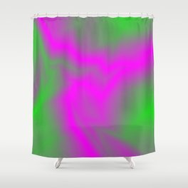 Blurry outlines of lightning with a swirling gap. Shower Curtain