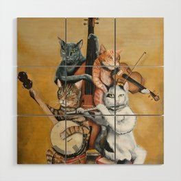 Cat Quartet Wood Wall Art