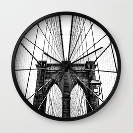 Brooklyn Bridge Web Wall Clock