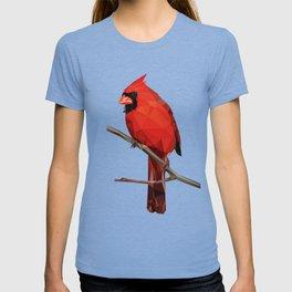Nothern Cardinal - Low poly digital art T-shirt