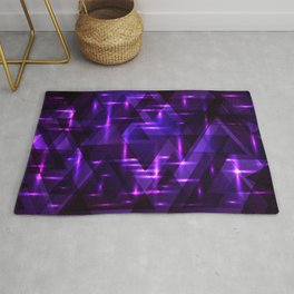 Pink intersections on a purple metal background. Rug