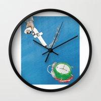 facebook Wall Clocks featuring Facebook  by gunberk
