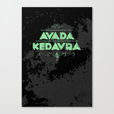 Harry Potter Curses: Avada Kedavra Canvas Print