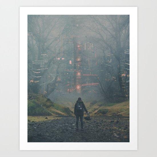 Digital Forest Art Print