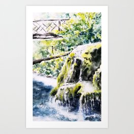 Bigar Waterfall, Romania Art Print