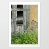 Old building, grass - Curacao Art Print