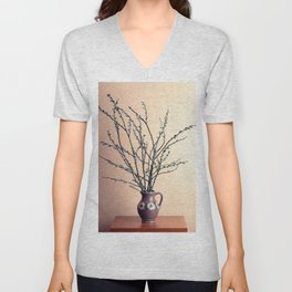 Willow Catkins bouquet Unisex V-Neck