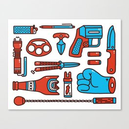 Street weapons Canvas Print