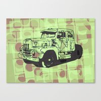 truck Canvas Prints featuring Truck by Hans Eiskonen