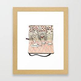 The Last Supper (Cats) Framed Art Print