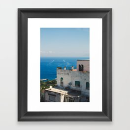 capri blues Framed Art Print