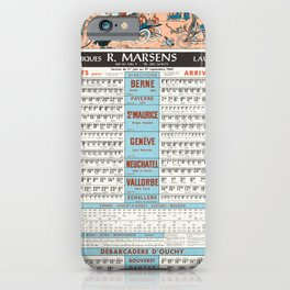 Advertisement horaires cff et cgn r marsens iPhone Case