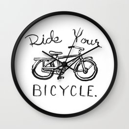 Ride Your Bicycle Wall Clock