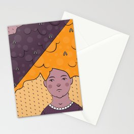 Bad Hair Day Illustration Stationery Cards