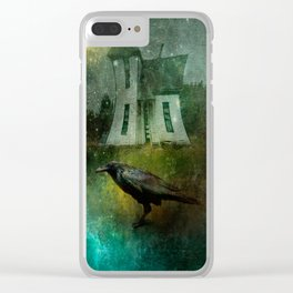 Crow House Revisited Clear iPhone Case