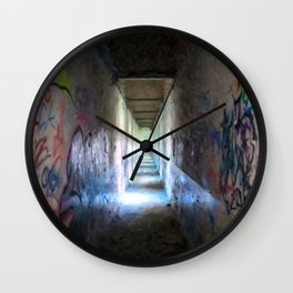 Exit from Reality Wall Clock