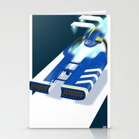 spaceship Stationery Cards featuring SpaceShip by LoweakGraph