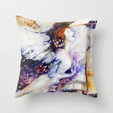 dreaming angel  Throw Pillow
