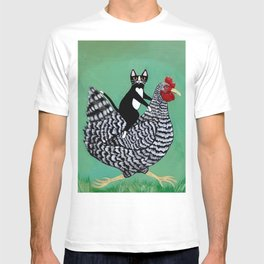 Cat on a Chicken T-shirt