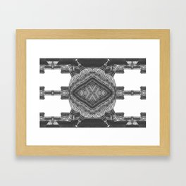 Architecture psychedelic b&w Framed Art Print