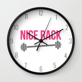 Nice Rack Funny Gym Quote Wall Clock