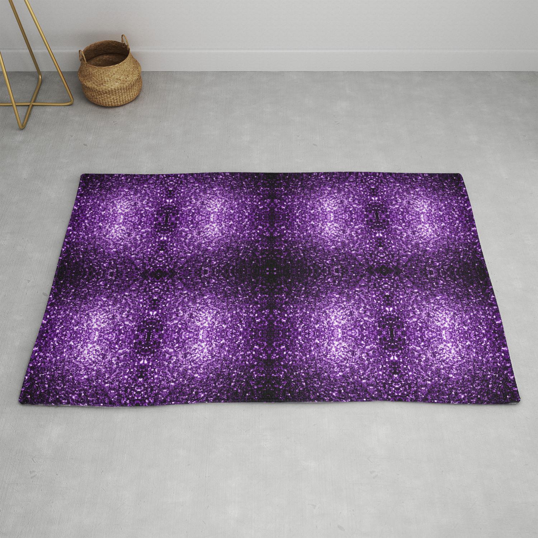 Beautiful Dark Purple Glitter Sparkles