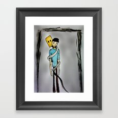 Insecurity.  Framed Art Print