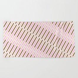 Japanese Chocolate Biscuit Sticks Beach Towel