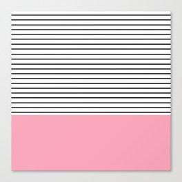 Minimal Pink Stripes Canvas Print