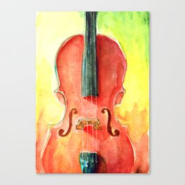 Cello in Red Canvas Print