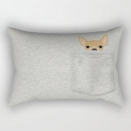 Pocket Chihuahua - Tan Rectangular Pillow