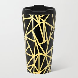 Abstract Outline Thick Gold Travel Mug