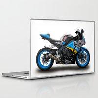 honda Laptop & iPad Skins featuring Honda CBR fireblade. by cjsphotos