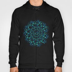 Blue Leaves Mandala Hoody