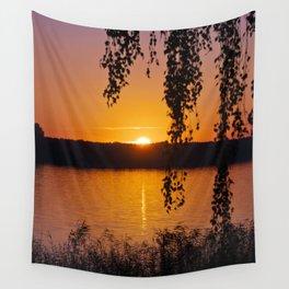 Beautiful sunset over lake #2 Wall Tapestry