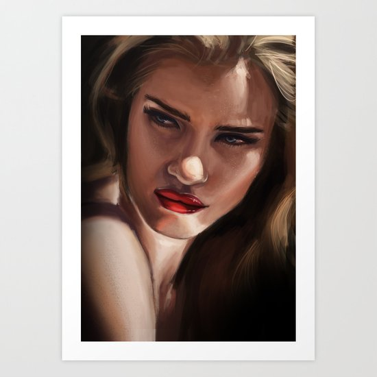 Piercing gaze Art Print