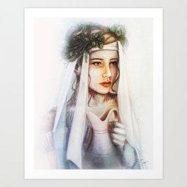 Rose of Jericho Art Print