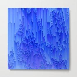 Melted, blue Metal Print