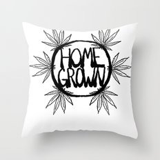 Home Grown Organic Throw Pillow