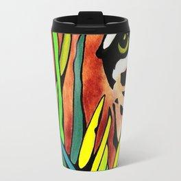 Tiger Eyes Looking Through Tall Grass By annmariescreations Travel Mug