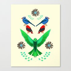 Fåglar du? Canvas Print