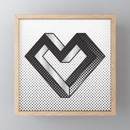 le coeur impossible (nº 5) Framed Mini Art Print