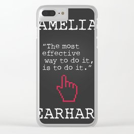 Amelia Earhart quote Clear iPhone Case