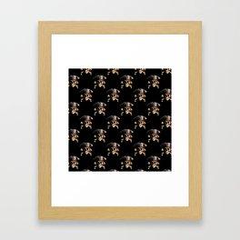 The Jolly Roger Pirate Skull Pattern Framed Art Print