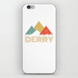 Retro City of Derry Mountain Shirt iPhone Skin