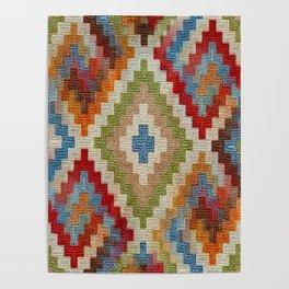 kilim rug pattern Poster